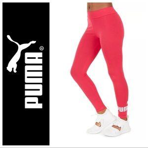 NWT Puma Essential logo leggings bright rose